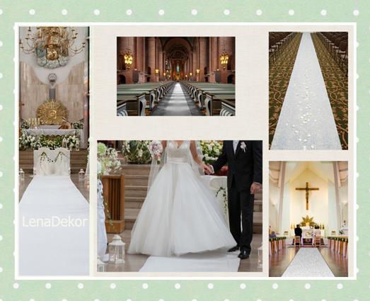 CHODNIK 25m dywan BIAŁY szer. 120cm do kościoła na ślub