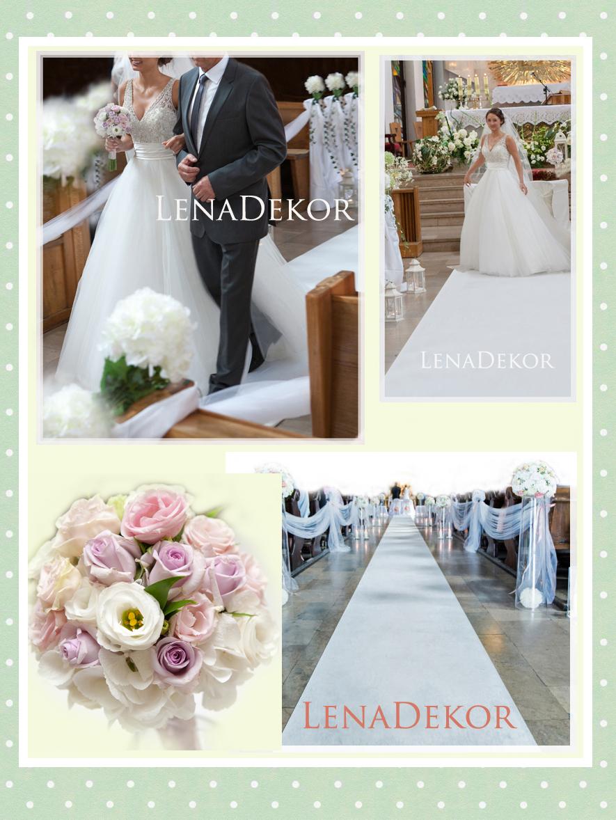 CHODNIK 25m dywan szer. 120cm na ślub z NADRUKIEM imion