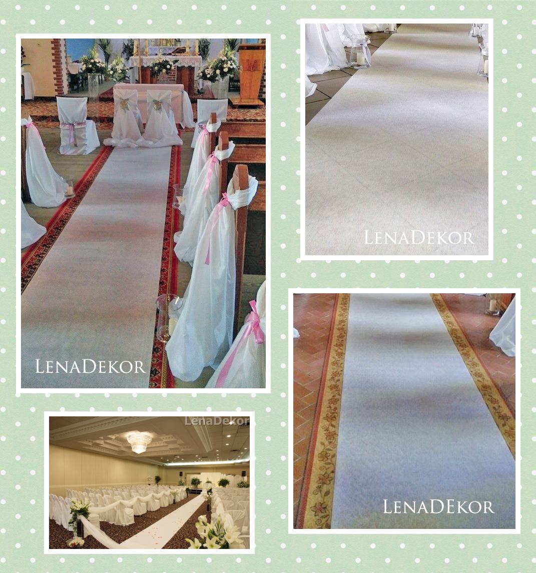 CHODNIK 25m dywan BIAŁY szer. 90cm do kościoła na ślub