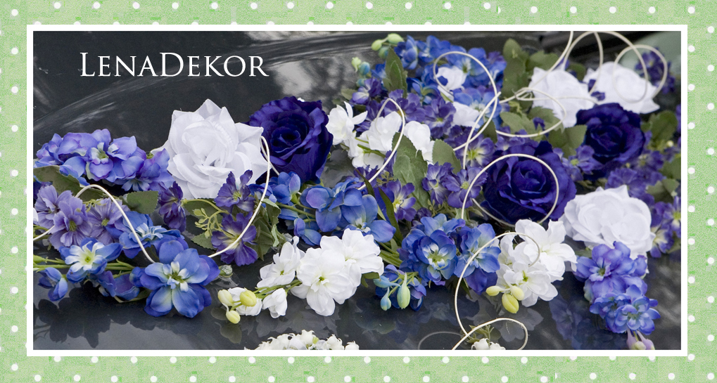 JOANNA dekoracja na samochód seria DELUXE wedding car decoration with artificial flowers