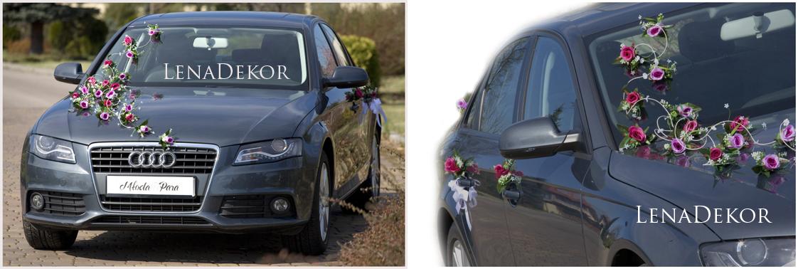 JOLA róż - zestaw do przystrojenia samochodu