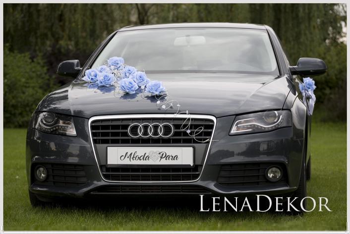 JULKA niebieska Wystrój auta ślubnego DELUXE