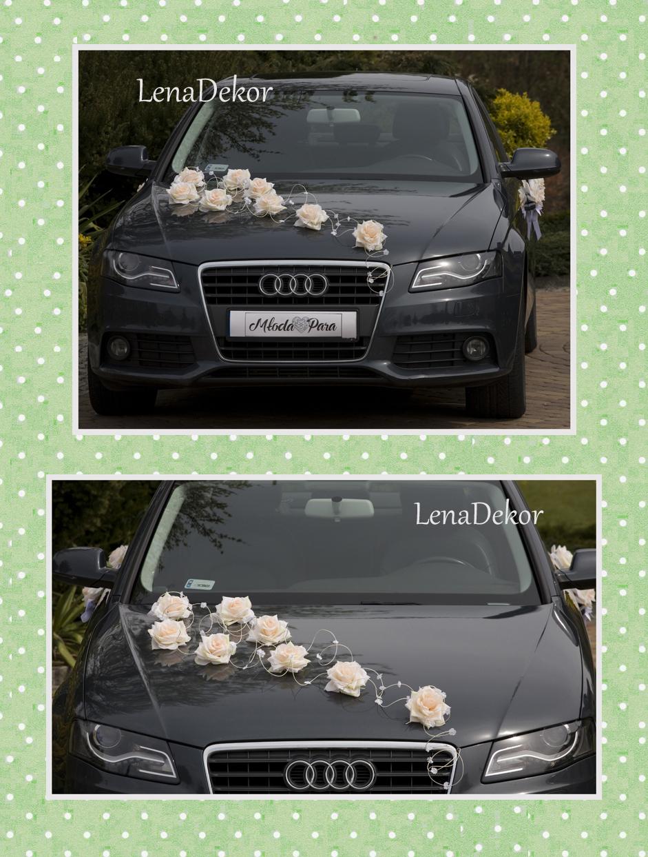 JULKA wanilia Zestaw do dekoracji samochodu ślubnego DELUXE