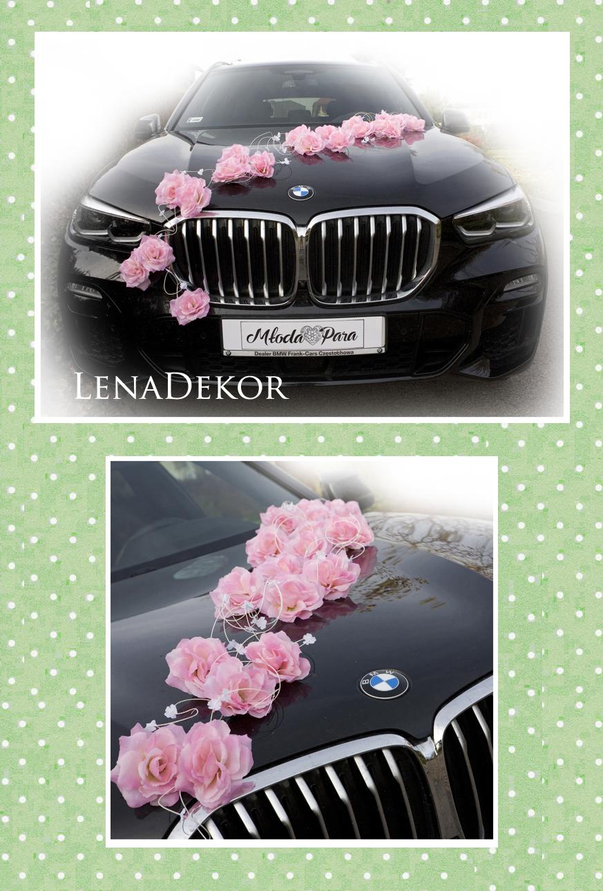 LORA dekoracja na samochód od ślubu różne kolory