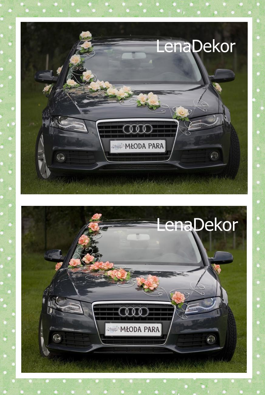 PARIS lila - dekoracja na samochód ślubny