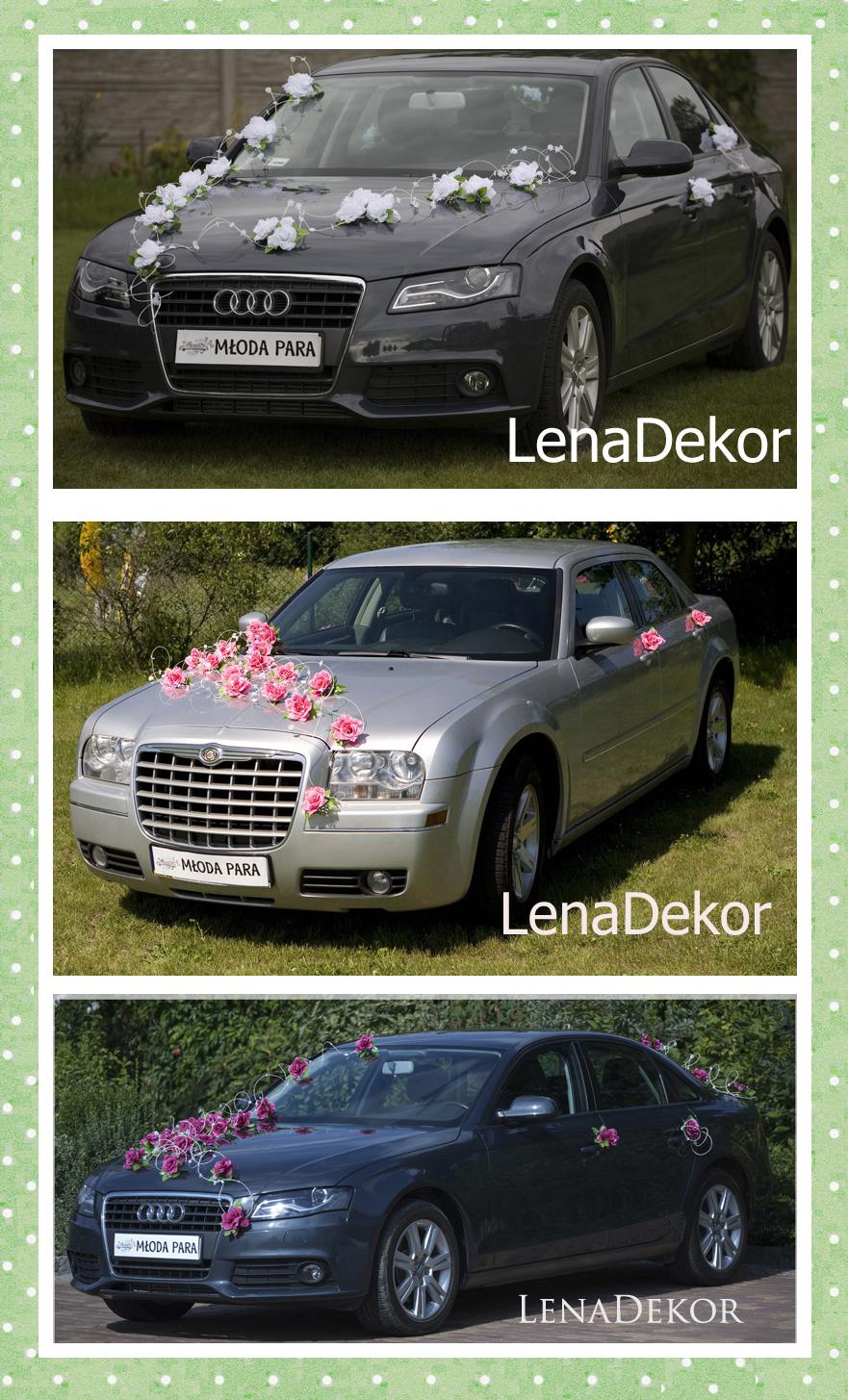WENECJA biała - zestaw dekoracyjny na samochód