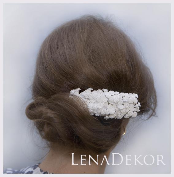 Stroik do włosów GIPSÓWKA na grzebyku