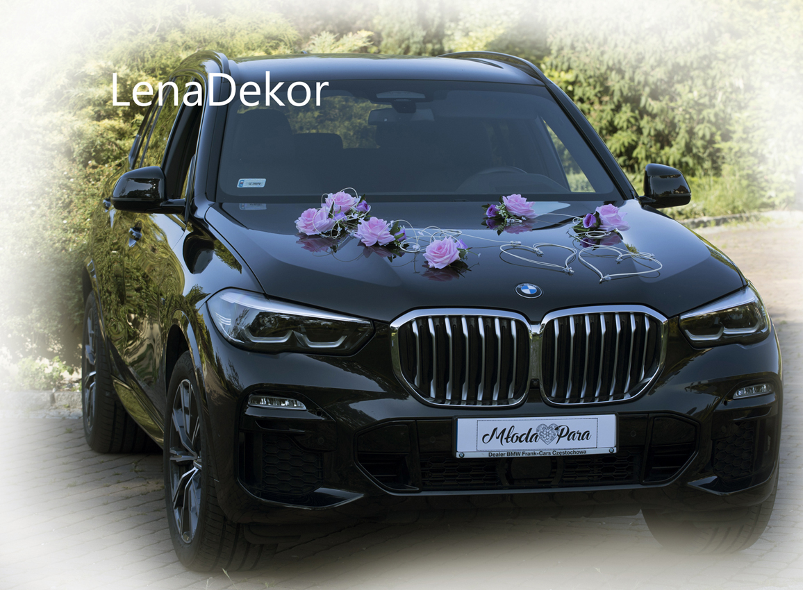 ZOSIA ozdoba na samochód do ślubu wedding car decoration with artificial flowers