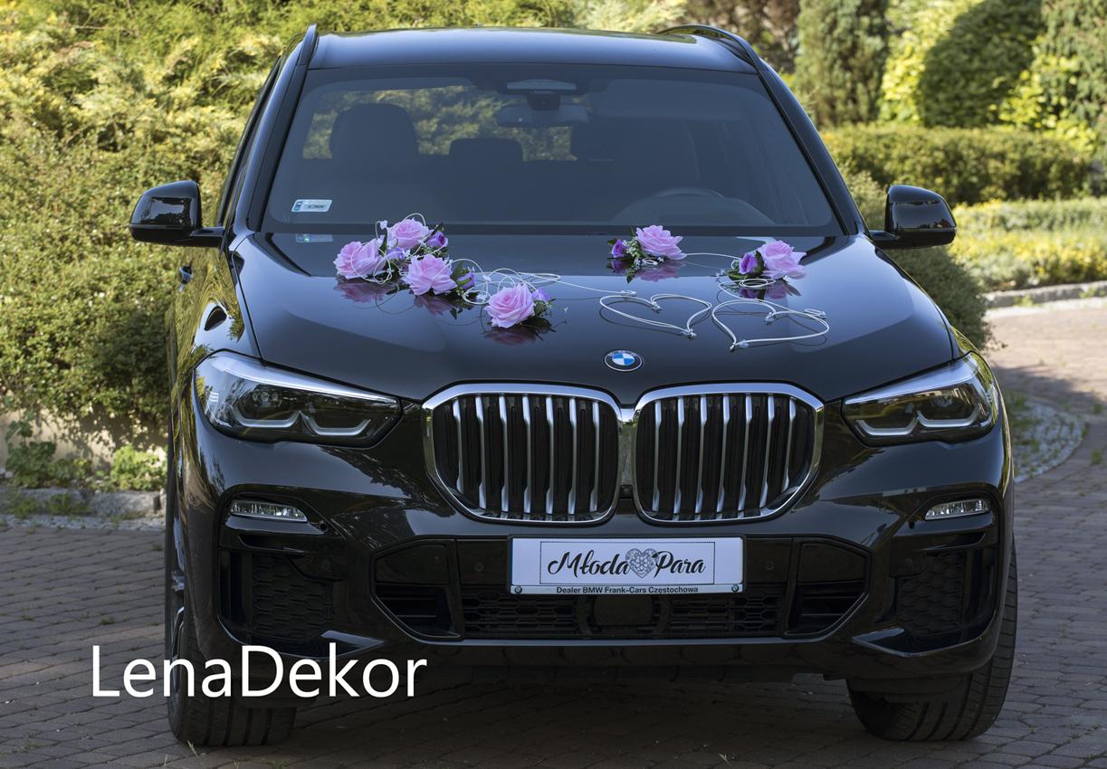 ZOSIA zestaw do dekoracji samochodu na ślub Seria DELUXE