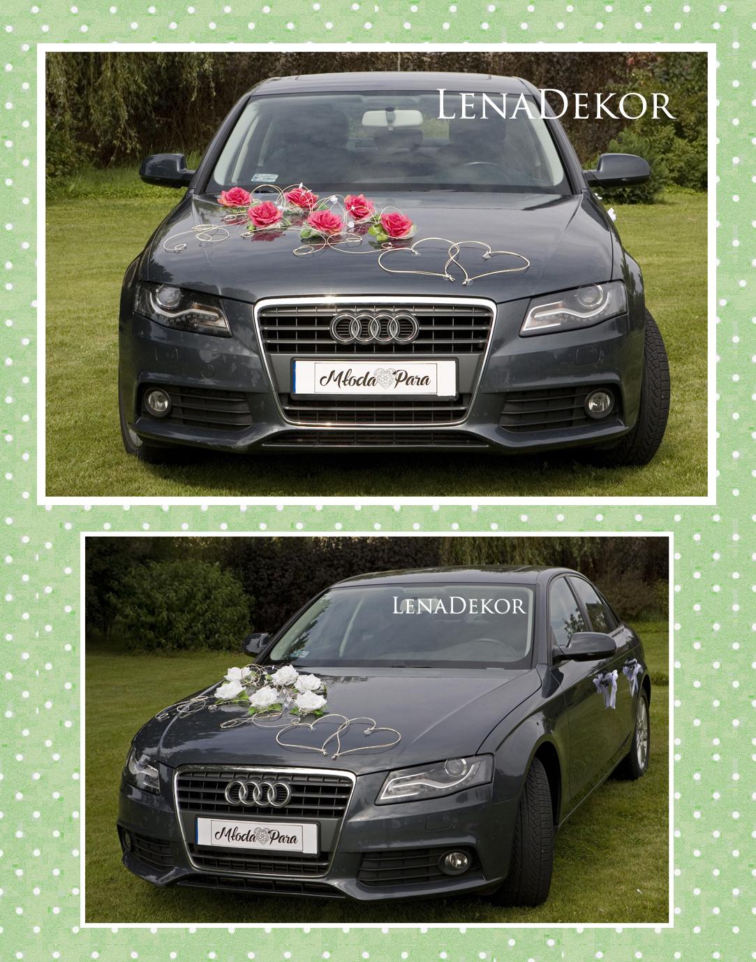 ZUZA - dekoracja na samochód ślubny wedding car decoration
