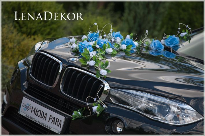 Ogromny ASIA - niebieski zestaw do dekoracji samochodu MF57